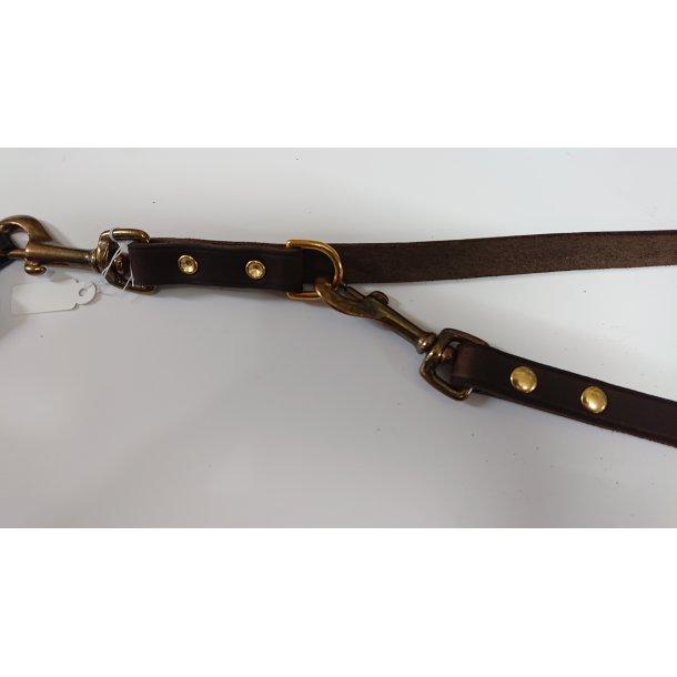 Brun line i blød giftfri læder 1,6 x 200 cm